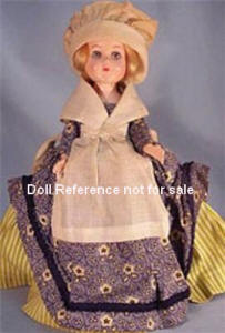 1953-1954 A & H Marcie dolls, The Doll of Destiny, Molly Pitcher doll 12""