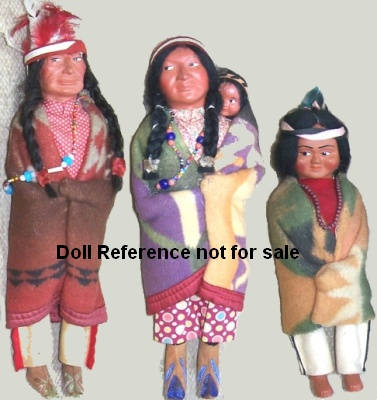 Arrow Novelty Native American family of dolls