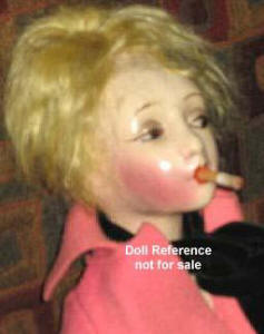 "Cubeb, 26"" smoking doll 1920s"