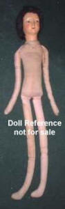 "28"" tall, cloth body, long legs"