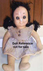 1948 Dan River Buttons Doll, 17""