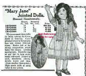 Sears 1921 F & B Mary Jane doll ad