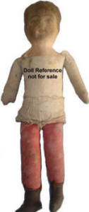 1901 Albert Bruckner Babyland Rag cloth doll 13""