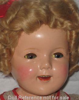 1934 Ideal Shirley Temple doll face, 27""