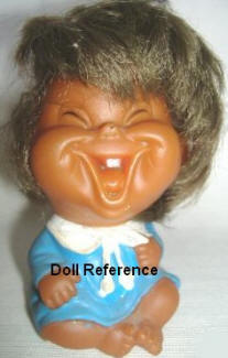 "1976 IMPCO Moody Cuties, cheer-up laughing doll, 4"" Imperial Crown Toy Corp"