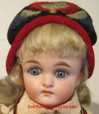 Kling bisque doll, mold 123, 13""