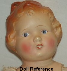 1924-1929 Metropolitan Hair Bow Girl doll, 21""