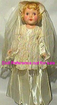 1951 Paris Rita Bride doll, 28""