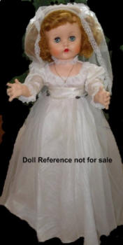 "1954 Paris Rita Walker Bride doll, 28"" vinyl head"