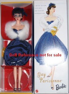 Gay Parisienne Barbie reproduction 1998