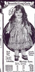 Sears 1921 Beautiful Long Curls doll ad