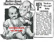 1926 Sears Ideal Suck-a-Thumb Baby doll ad
