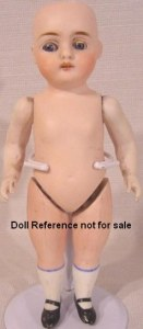 "Srtrobel & Wilken, All Bisque Doll 9"", doll mark SWC 251"
