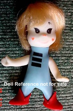 1967 Swedlin Mini Martian Marti doll, 4 1/2""