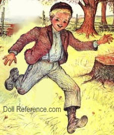 Tadd doll illustration 1938 Copper-Toed Boots book by De Angeli